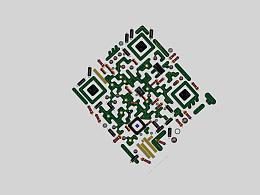 电路板风格创意二维码