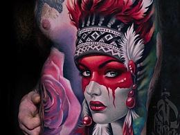 欧美重彩写实风格纹身赏析合集.选择不同类型的纹身是