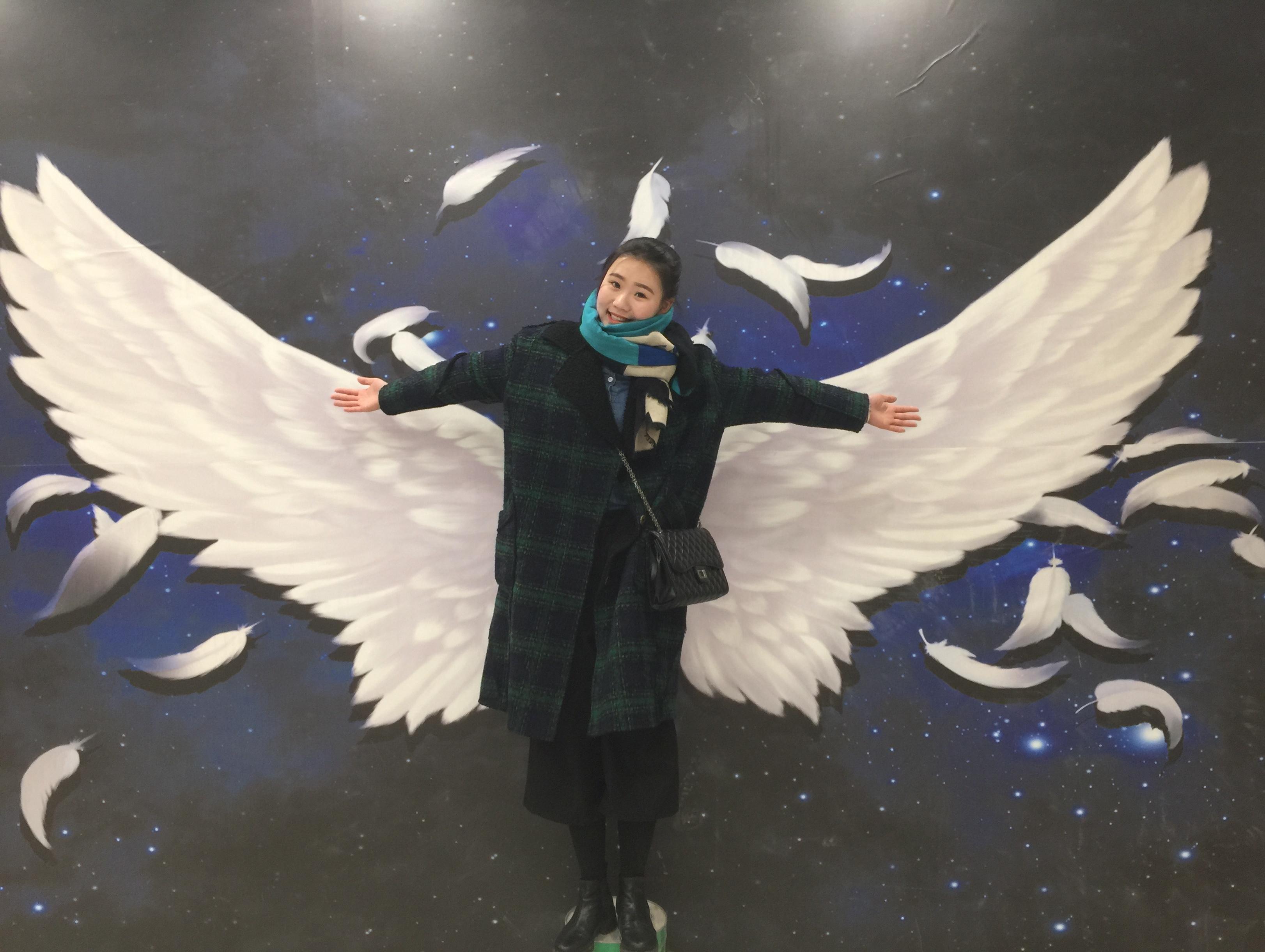 北京3d立体护之【天使的翅膀】3d墙画
