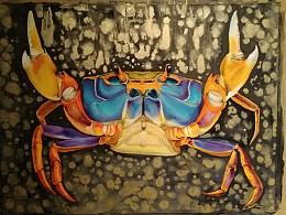 来只2K水彩螃蟹