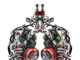 metal lung-鼠绘超写实研究