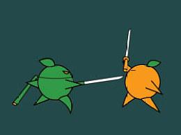 Flash实验短片:《一个苹果和一个橙子的决斗》(刀光剑影·武侠梦)
