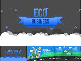 74页ECO节能环保生态保护商务贸易精美动画PPT模板