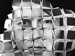 《Encounters:拼凑邂逅的五十种味道》  立体折纸纸雕海报排版