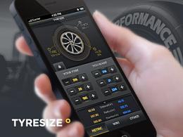 TYRESIZE iOS App Design