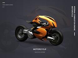 原创作品:ps写实摩托车