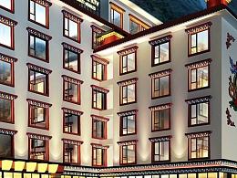 理县古尔沟诗曼温泉大酒店设计|成都藏文化主题酒店设计|度假酒店设计