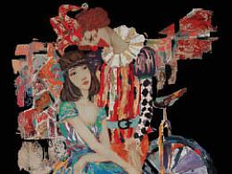 <戏·语>陈娜——漆画#福建师范大学#