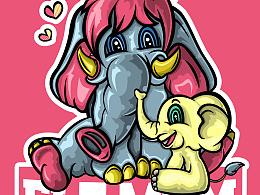 象妈妈与调皮小象~