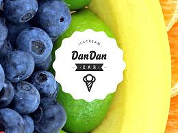 DanDanCAR-氮淡车冰淇淋品牌LOGO设计
