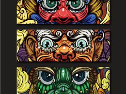 《诸邪退散》镇墓兽系列插画