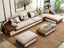 布艺沙发3D效果图