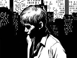 《推理世界》黑白插画 第五发