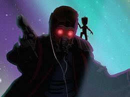 《银河护卫队2》自制艺术海报