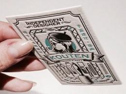 KOUTEN纯手工设计/手绘个人名片和名片包