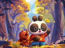 巴布熊猫二十四节气宣传图(1)