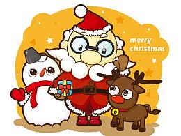 圣诞老人和他的小伙伴