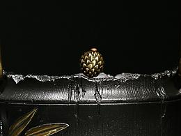 【沐焱堂】  雅竹铁壶 铸铁 鎏金无涂层纯铁煮茶壶 养生茶壶出口日本