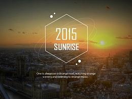 【珞珈】2015新年计划动感PPT模版(两种配色)——《朝阳》