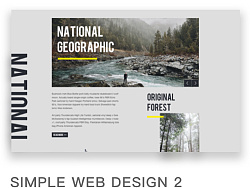 简洁网页设计 #2 by Y_Design