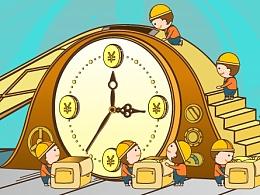 插画动画-Time and money