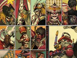 依照洋画的排版   做出另外一个拼图系列《水浒星宿头像图》