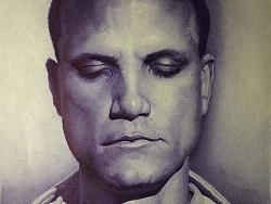 《聪闻》之肖像       圆珠笔画