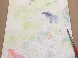 发一张小图图的绘画过程