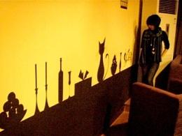 帮盆友家画的墙绘