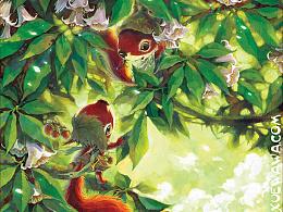 【童画世界 by 雪娃娃】小松鼠忙碌在春天