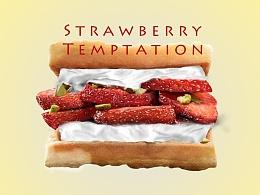 写实鼠绘-草莓的诱惑