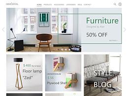 网页设计——immortal furniture