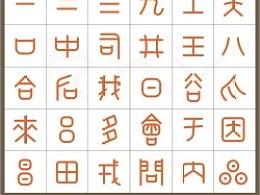3000年来没改变写法的汉字。