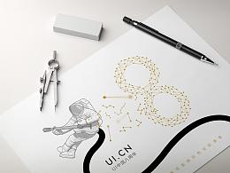 UI 中国8周年明信片设计
