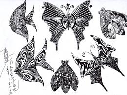 《鱼蝉蝶》装饰填充  第二组