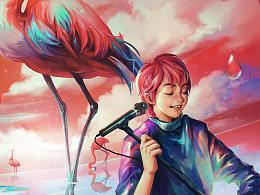 窦靖童《Blue flamingo》
