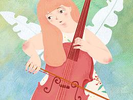 拉大提琴的女孩