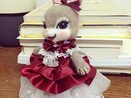 手工羊毛毡兔子美人儿