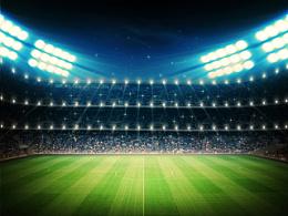 足球绿茵场高清素材图片