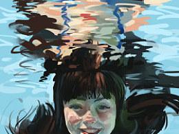 水下的女孩