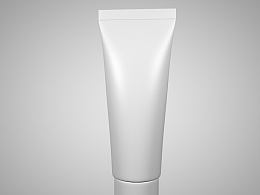 C4D茶树油牙膏模型半成品