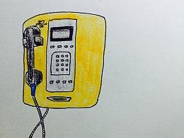 彩铅记录 电话 梨