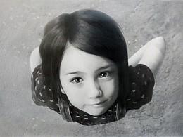 EveXu-童真-素描-《仰望》