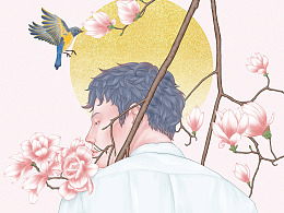 《春风似琉璃》系列插画