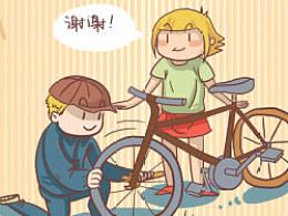 留学记漫画之单车危机(上+下)