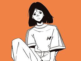 近期画的一些少女人物插画