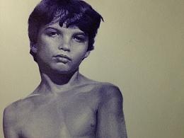 圆珠笔画  ---《男孩》---过程