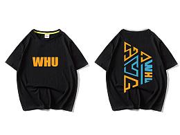 武汉大学潮牌街头风短袖设计
