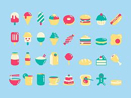 一组食物icon