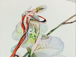 观花小记-春日迦陵频
